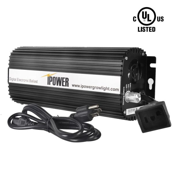Ipower Ul Certified 1000w Hps Mh Grow Light System Kit Cool Tube Reflector Set