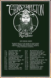details about chris stapleton all american road show 2019 ltd ed new rare tour poster