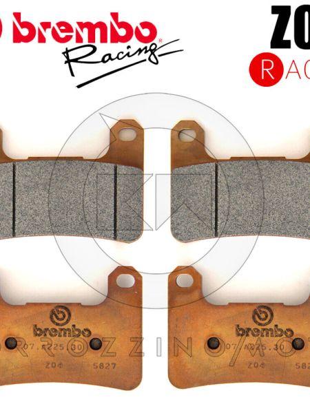 BREMBO SET 4 PASTIGLIE FRENO ANTERIORI Z04 M518Z04 SUZUKI GSXR 600 ANNO 2007