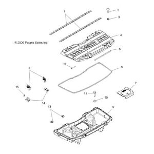 Polaris Front Lower Box Assembly Kit, Genuine OEM Part