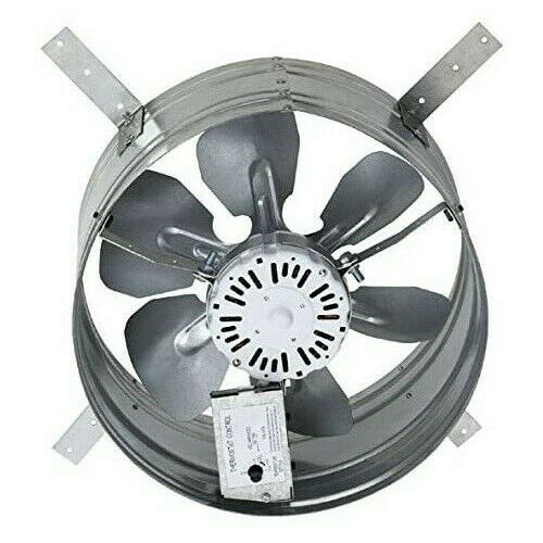 attic roof fan exhaust vent electric