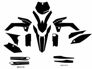 KTM 85 (2015-2017) motocross vector template (1:1 scale