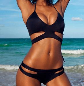 Donna Costume Da Bagno Caldo Con Cinturini Prendisole Intero Monokini Bikini  eBay