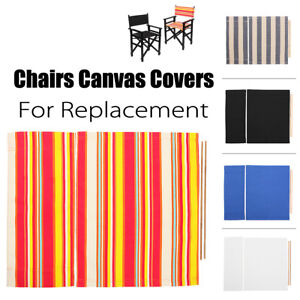 director chair replacement covers ebay diy cushion no sew directors chairs canvas cover waterproof stool protector image is loading