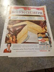 Betty Crocker Boston Cream Pie : betty, crocker, boston, cream, Vintage, Print, Betty, Crocker, Boston, Cream, Desert