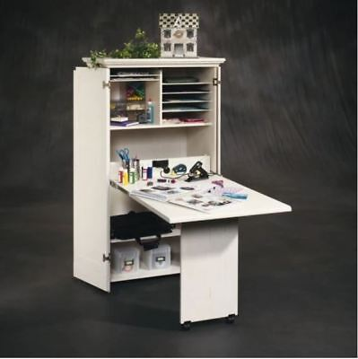 Best Craft Table Cabinet Armoire Storage Furniture Folding Sewing White Desk New 42666012874 Ebay
