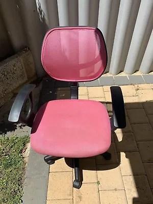 girls pink desk chair oversized chairs for living room office gumtree australia cockburn area