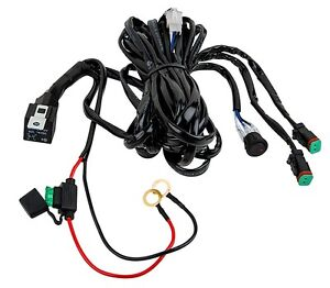 Totron DT Plug Dual Light Wiring Harness w/ Relay and