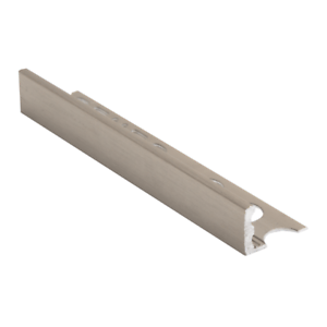details about genesis straight edge brushed nickel tile trim esa trade tile edging
