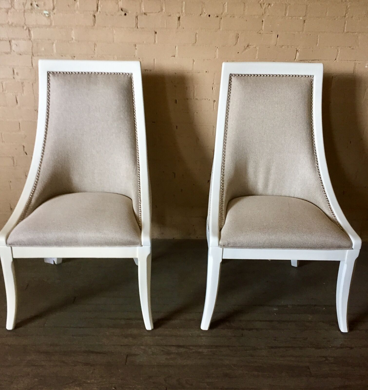 Dining Chair Set Of 6 Thomasville Furniture Manuscript White Upholstered Back Dining Chair Set Of 6