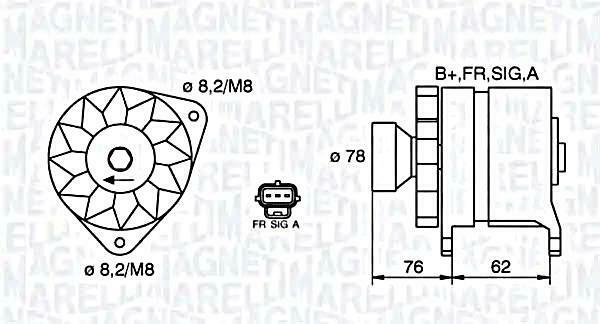 Alternator Magneti Marelli Fits FORD Focus Tourneo Transit