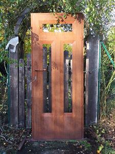 Deko-Tür Edelrost 181x76cm Haustür Gartentür Tür Rost Metall