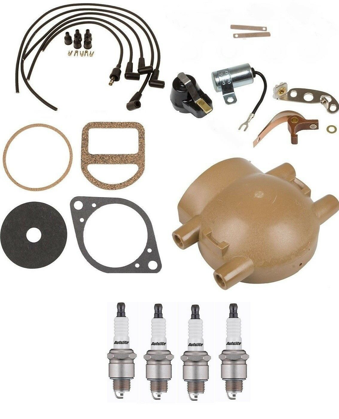 hight resolution of complete tune up kit for ford 9n 2n 8n tractors with front mount distributor for sale online ebay