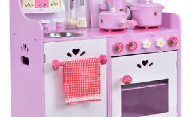 New Kids Wooden Play Set Kitchen Toy Strawberry Pretend