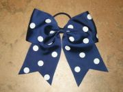 """polka-dot navy blue"" cheer"