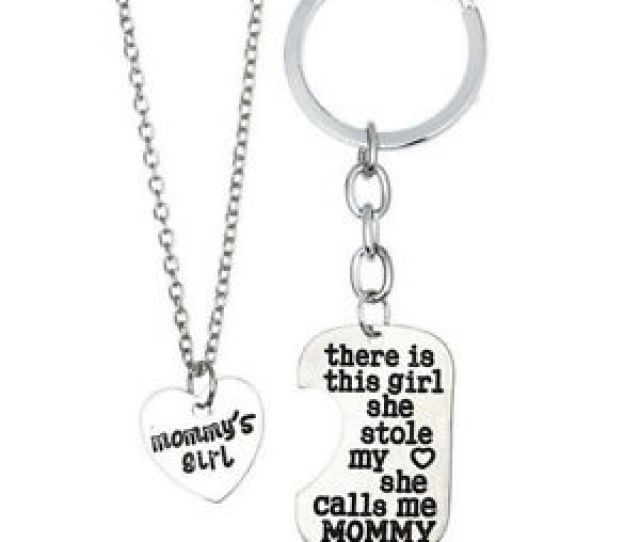 Image Is Loading Mommy  S Girl Mother Daughter Necklace Charm