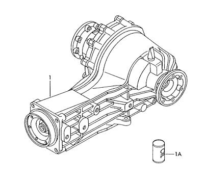 AUDI A6Q S6 A8Q S8 4.2L V8 2000-04 REAR DIFFERENTIAL