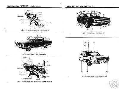 1977 1978 CADILLAC ELDORADO BODY PARTS LIST CRASH SHEETS