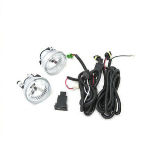 For 07-11 Versa Clear Bumper Fog Light Lamp Kit W/Switch