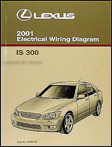 2001 Lexus IS 300 Wiring Diagram Manual Original IS300 Electrical Schematic Book   eBay