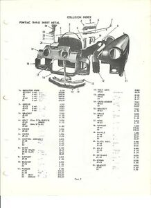 1949 50 51 52 53 Pontiac NOS Front End Exterior Body Parts