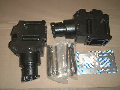 pair exhaust manifold riser elbow 4 3 5 0 5 7 l 305 350 v8 mercruiser 4 set 2 ebay