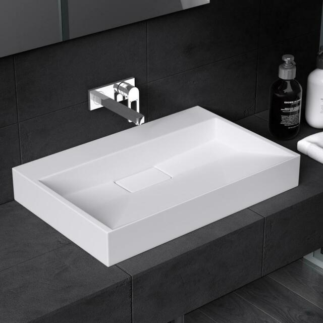 durovin luxury 500mm 1 tap hole solid stone resin hand wash basin sink vessel