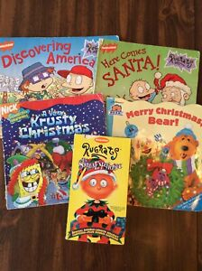 Nickelodeon Christmas : nickelodeon, christmas, Nickelodeon, Christmas, Books/VHS, Lot-Rugrats-Spongebob-Bear, House