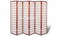 6 & 8 Panel Japanese Oriental Room Divider Privacy Wall