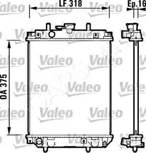 VALEO Engine Cooling Radiator Fits DAIHATSU Cuore Sirion