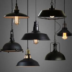 details about industrial loft warehouse barn pendant lamp indoor hanging ceiling light fixture