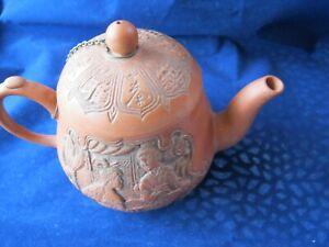 Vintage Chinese Yixing Zisha Pottery Teapot Hand Signed