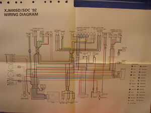 beetle wiring diagram uk lutron maestro ma r yamaha xj6 great installation of nos factory 1992 xj600 sd sdc ebay rh co cj5 yzf600r