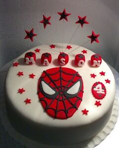 In The Style Of Spiderman Cake Topper Unofficial Hulk Captain