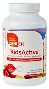 Kids ADHD Focus & Attention ADD Childrens Vitamin B 180 ...
