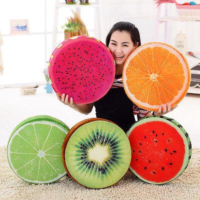 3d fruit soft round pillow plush cushion orange watermelon chair floor seat pads ebay