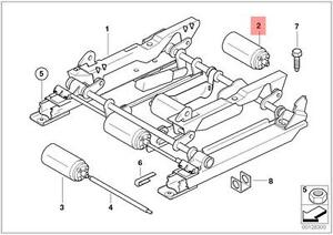 Genuine BMW Actuator Motor For Left Vertical SEAT