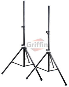 PA Tripod Speaker Stands Pair 110lb Load Pro Audio Stage