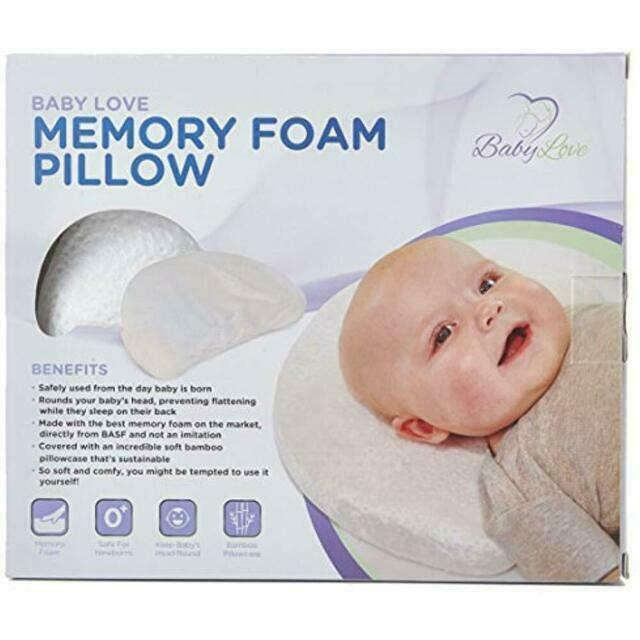 baby love head shaping memory foam pillow pillowcase included 2day ship