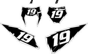 Fits 2020 KTM 350 XCF-W Pre-Printed Black Backgrounds with