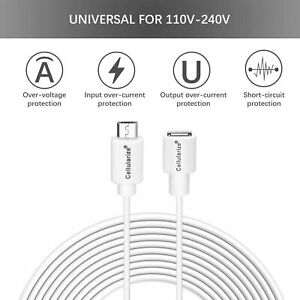 2-PACK Micro USB Extension Cable (3M/10ft) Male To Female