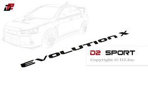 Carbon Fiber EVOLUTION X Trunk Emblem Badge for Mitsubishi