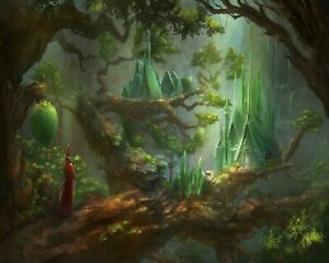 Fantasy Village In The Giant Woods Forest Painting Paint By Numbers Kit DIY eBay