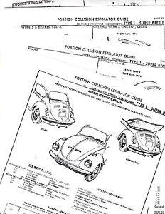 1971 1972 1973 1974 1975 VOLKSWAGEN VW SUPER BEETLE PARTS