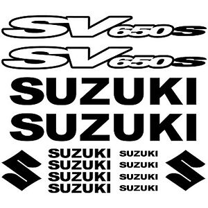 MAXI SET SUZUKI SV650S Vinyl Decal Stickers Sheet