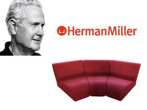chadwick sofa red sofas leather herman miller modular chairs mid century knoll dwr vtg image is loading