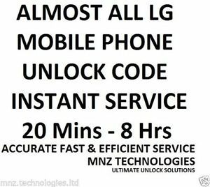 LG UNLOCK CODE L5 L3 L9 L4 P870 2X NEXUS 4 E430 P920 E455