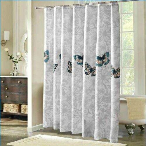 butterfly shower curtain extra long polyester fabric bath home mould proof cloth bathroom supplies accessories garden curtains