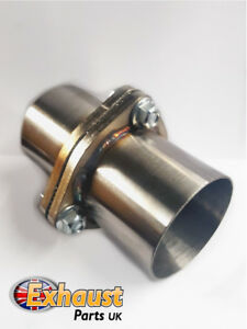 details about 3 bolt 2 25 stainless exhaust flange repair kit with gasket 57mm tube joint