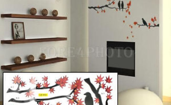 Diy Tree Branch Birds Mural Removable Art Decal Vinyl Wall